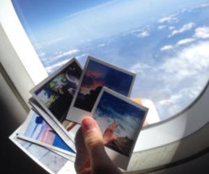 sky, photo, and polaroid image