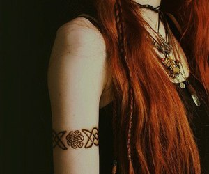 tattoo, ginger, and hair image