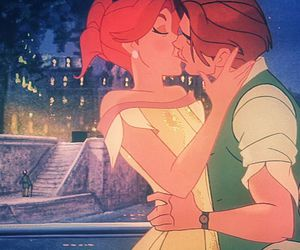 anastasia, couple, and kiss image