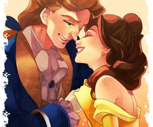 beauty and the beast, happy ending, and belle image