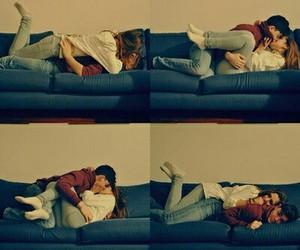 couple, kissing, and hug image