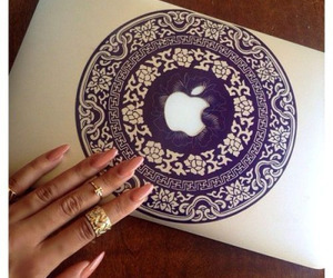 apple, nails, and macbook image