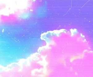 pastel, pink, and clouds image