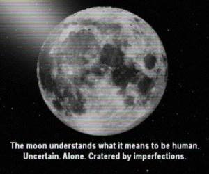 moon, quotes, and alone image