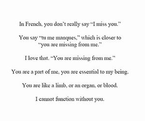 french, hope, and i miss you image