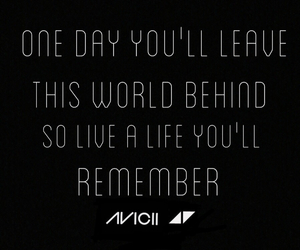 avicii and quote image
