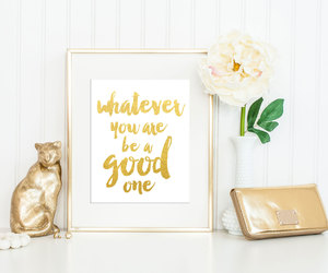 quote, gold, and inspiration image