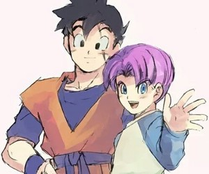 trunks, gohan, and dbz image