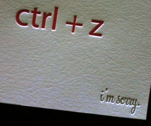 sorry and ctrl z image