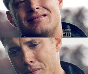 cry, crying, and dean winchester image