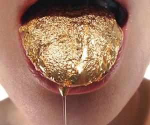gold, tongue, and lips image