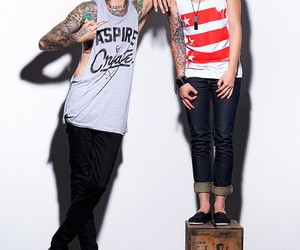 kellin quinn, austin carlile, and sleeping with sirens image