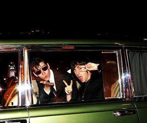 alex turner, funny faces, and miles kane image