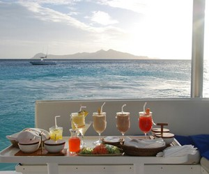 drink, luxury, and sea image