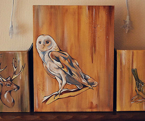 animals, canvas, and painting image