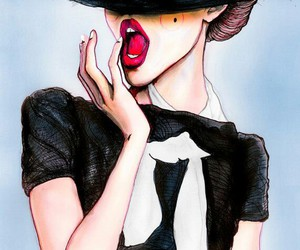 chic, cool, and hat image