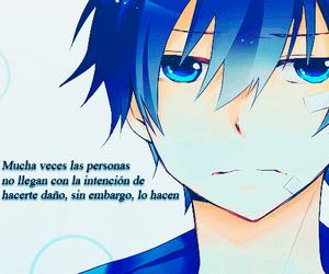 anime, azul, and frases image