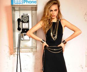 model, cara delevingne, and dress image