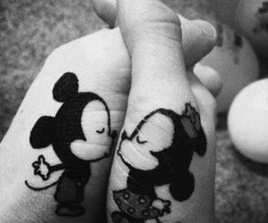 couple, mickey, and tattoo image