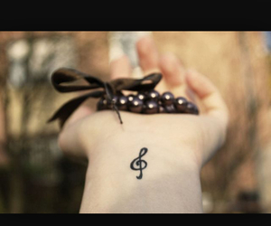 music, cute, and note image