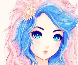anime, anime girl, and hair image