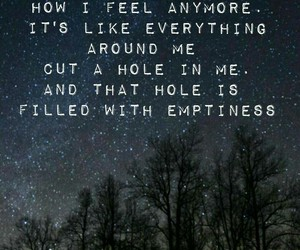 emptiness, feelings, and sadness image