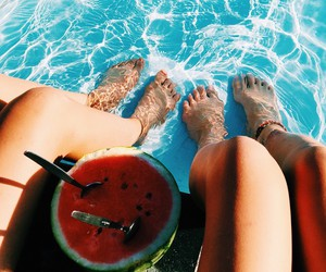 summer, beach, and FRUiTS image