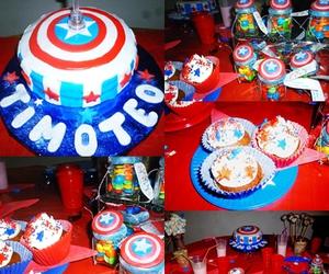 Avengers, birthday, and cake image