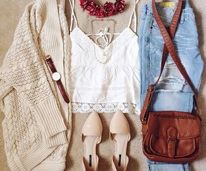 beautiful, floral, and outfit image