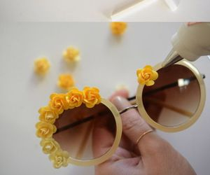diy, flowers, and sunglasses image