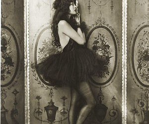 vintage, black and white, and dress image