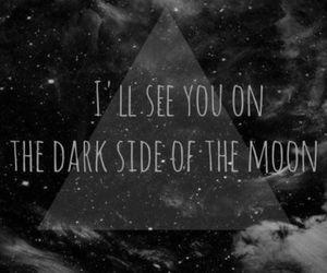 moon, dark, and Pink Floyd image