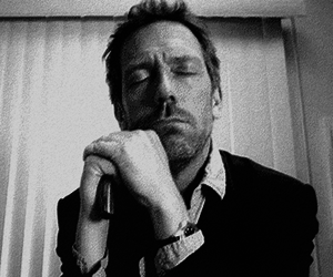 hugh laurie, black and white, and gregory house image