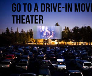 date, drive-in, and movie image