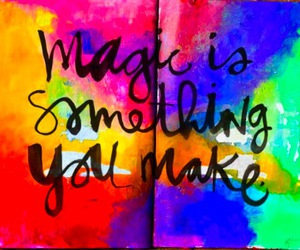 girl, magic, and quote image