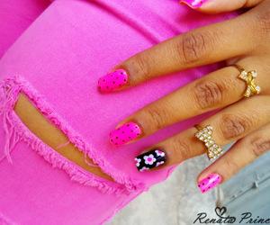 beautiful, flowers, and nail art image
