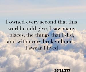 clouds, inspiration, and Lyrics image
