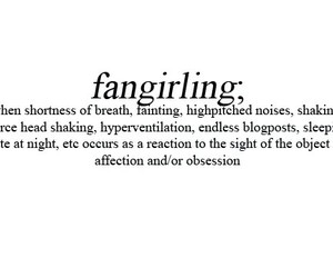 fangirling, fangirl, and one direction image