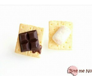 chocolate, earrings, and marshmallow image