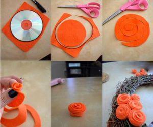 diy, flowers, and orange image