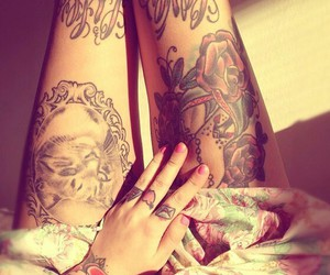 tattoo and legs image