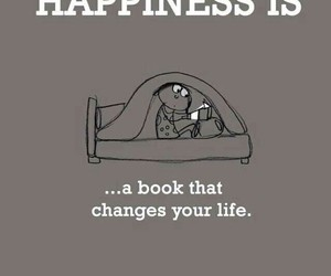 book, happiness, and life image