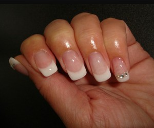 french, love, and nails image