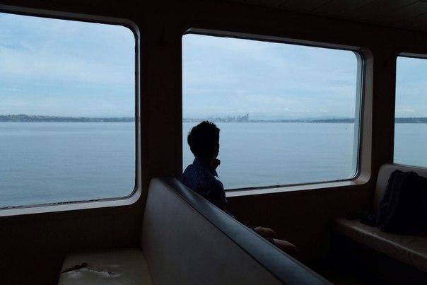 boy, alone, and train image