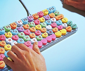 keyboard, candy, and heart image