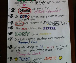 party, rules, and cops image