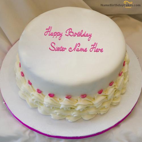 Brilliant Write Name On Icecream Birthday Cake For Sister Happy Birthday Personalised Birthday Cards Fashionlily Jamesorg