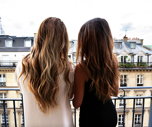 hair, friends, and city image