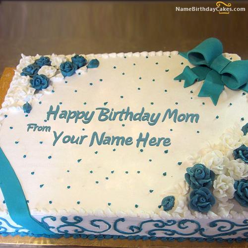 Tremendous Write Name On Lovely Birthday Cake For Mother Happy Birthday Wishes Personalised Birthday Cards Beptaeletsinfo