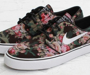floral, nike, and love image